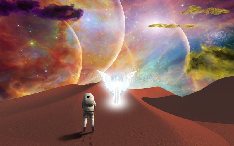 Viagem do espaço ilustração royalty free
