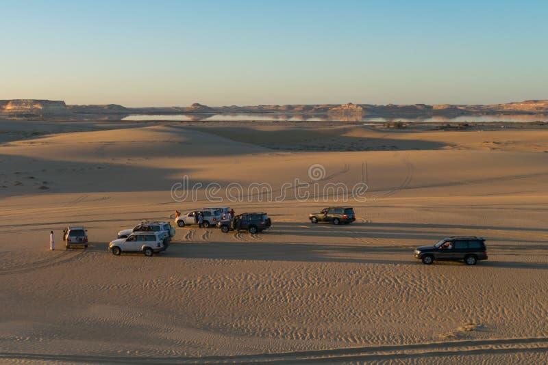 Viagem do safari no deserto de Siwa, Egito imagem de stock