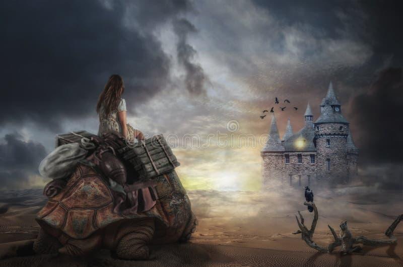 Viagem em um sonho ilustração do vetor