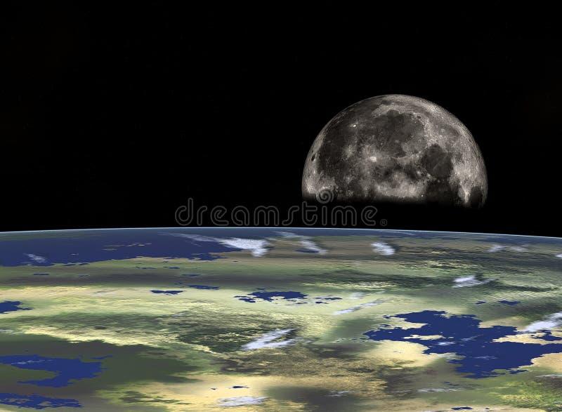 Viagem espacial ilustração stock