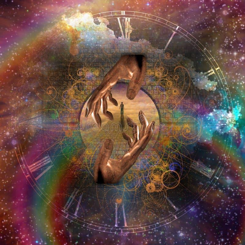 Viagem espiritual ilustração do vetor