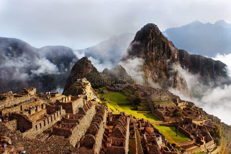 Viagem incrível a Machu Picchu foto de stock