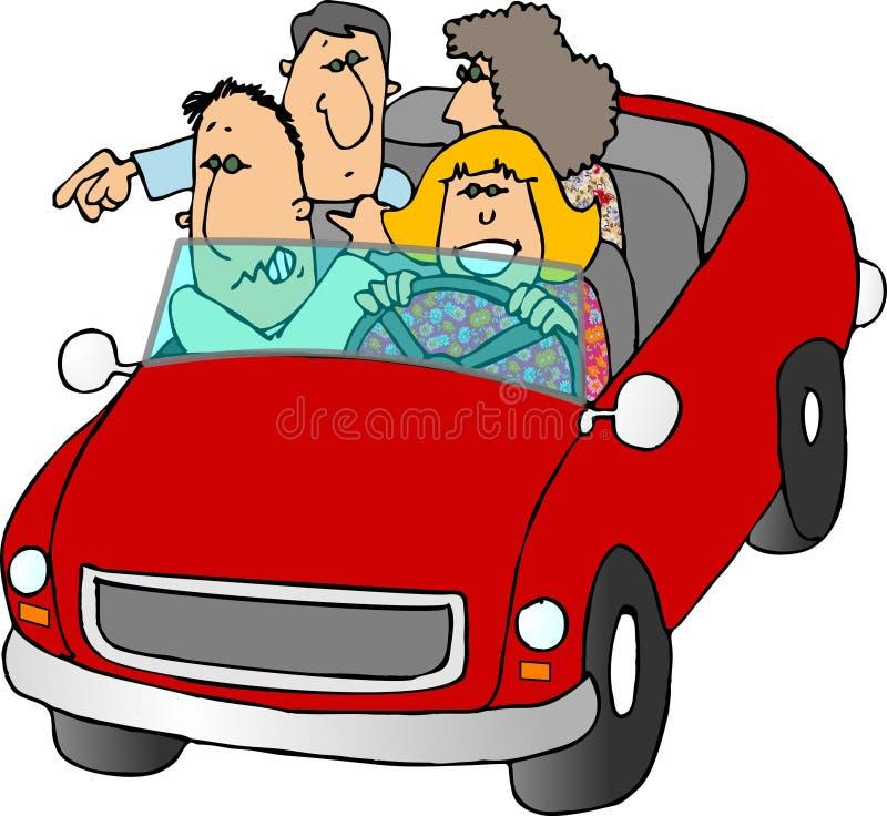 Viagem por estrada ilustração stock