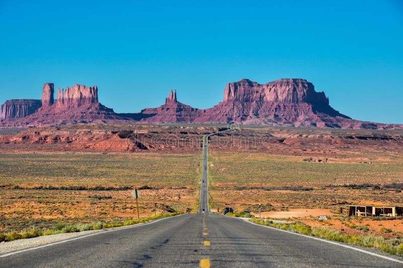 Viagem por estrada ao vale do monumento, o Arizona, EUA fotos de stock royalty free