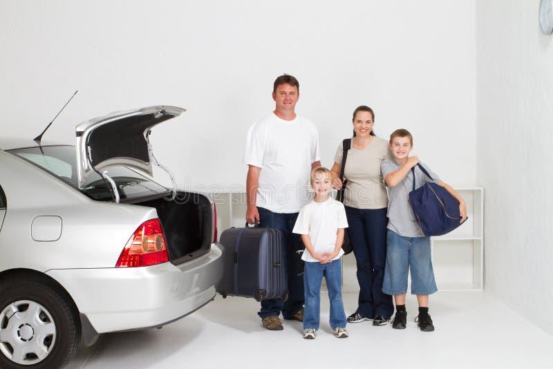 Viagem por estrada da família foto de stock