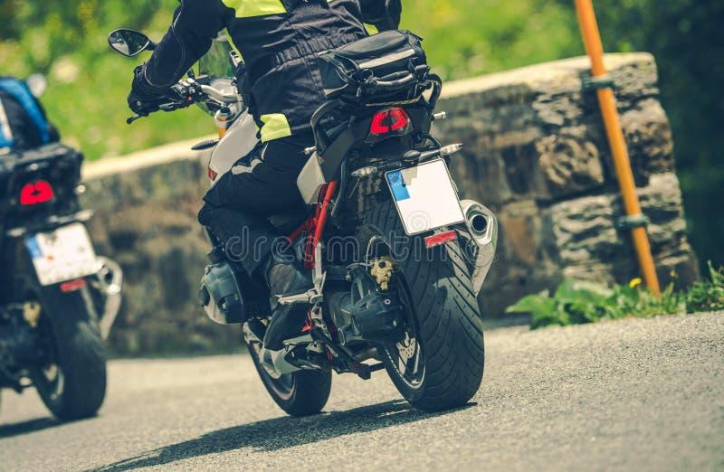 Viagem por estrada da motocicleta foto de stock