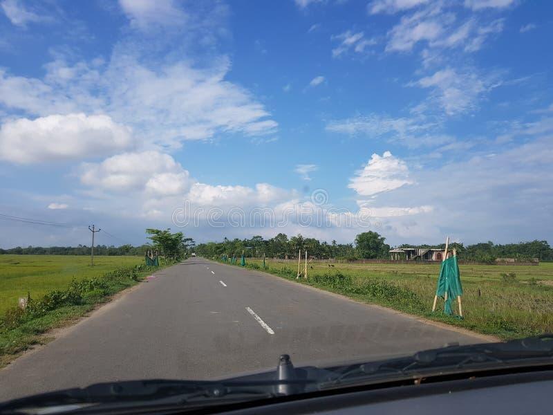 Viagem por estrada em Assam fotografia de stock royalty free