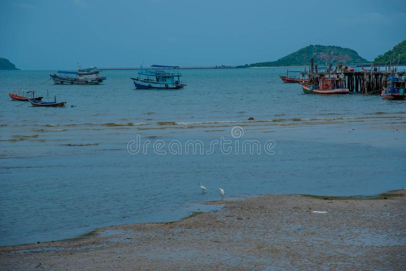 Viaggi in Asia, la spiaggia della cultura, spiaggia naturale immagine stock