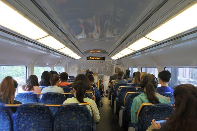 Viaggi dei passeggeri su Sydney Train New South Wales Australia fotografie stock libere da diritti