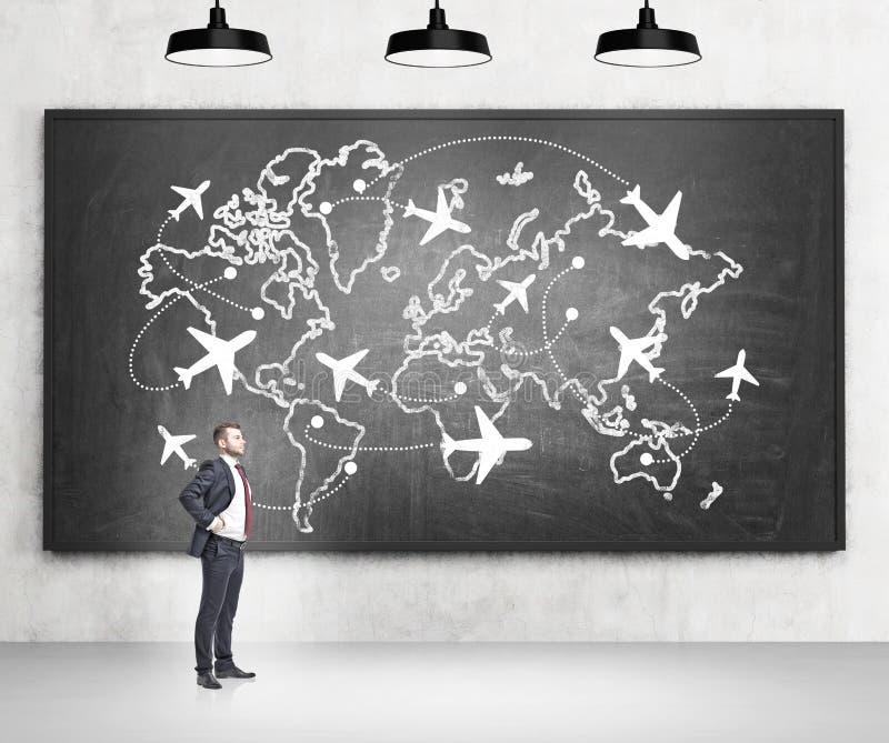 Viaggiando in aereo fotografie stock libere da diritti