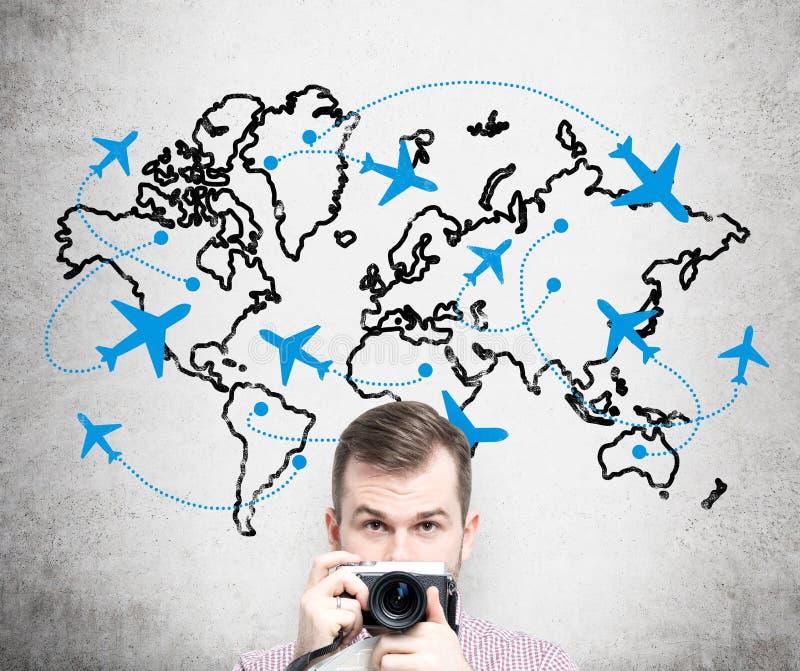 Viaggiando in aereo fotografia stock