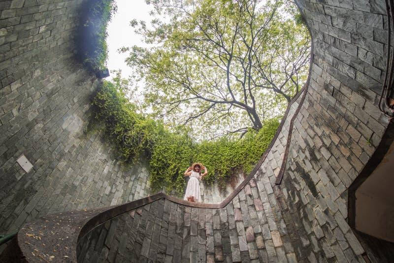 Viaggiando al parco d'inscatolamento della fortificazione a Singapore immagine stock libera da diritti
