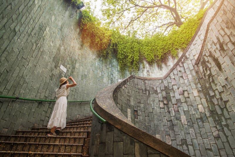 Viaggiando al parco d'inscatolamento forte a Singapore immagini stock