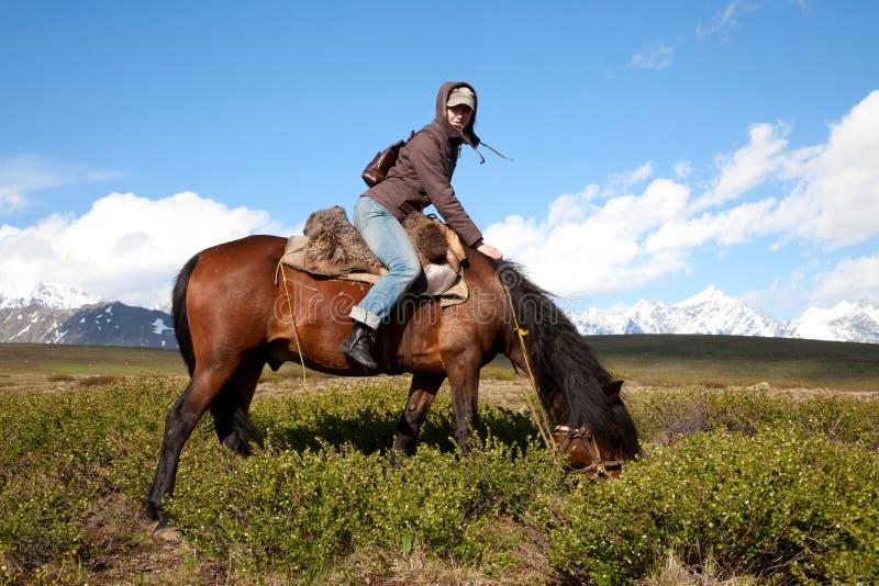 Viaggiando su a cavallo immagine stock libera da diritti