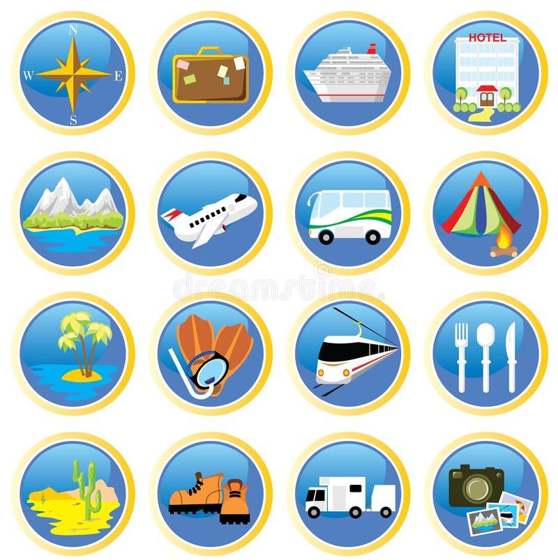 Viaggiare-icone illustrazione di stock