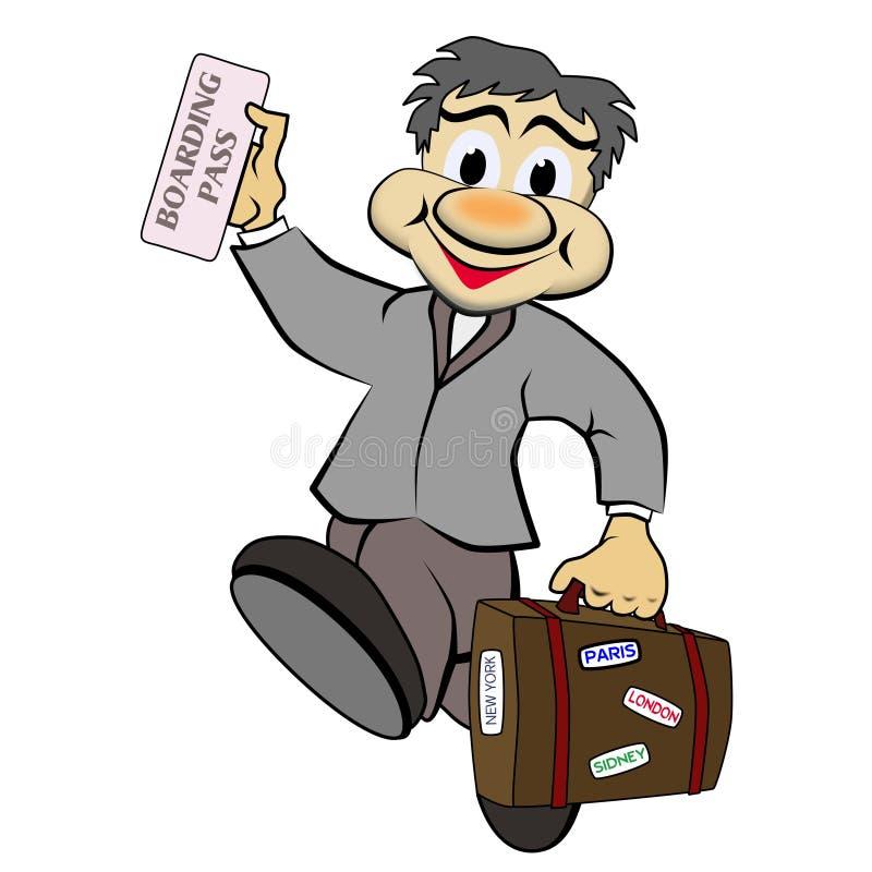 Viaggiatore di affari royalty illustrazione gratis