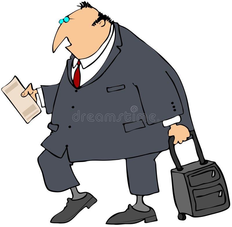 Viaggiatore di affari illustrazione di stock