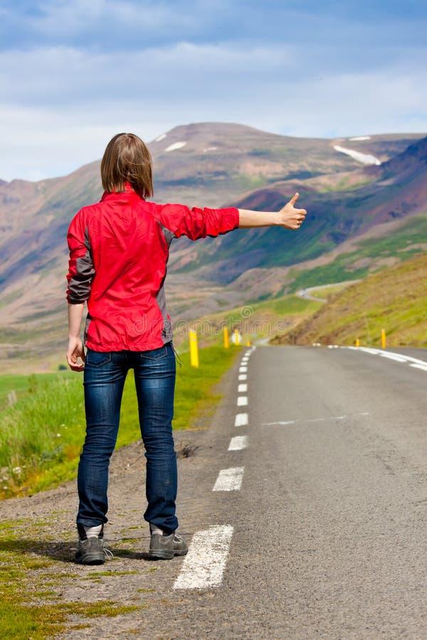 Viaggiatore/hitchhiker fotografia stock libera da diritti