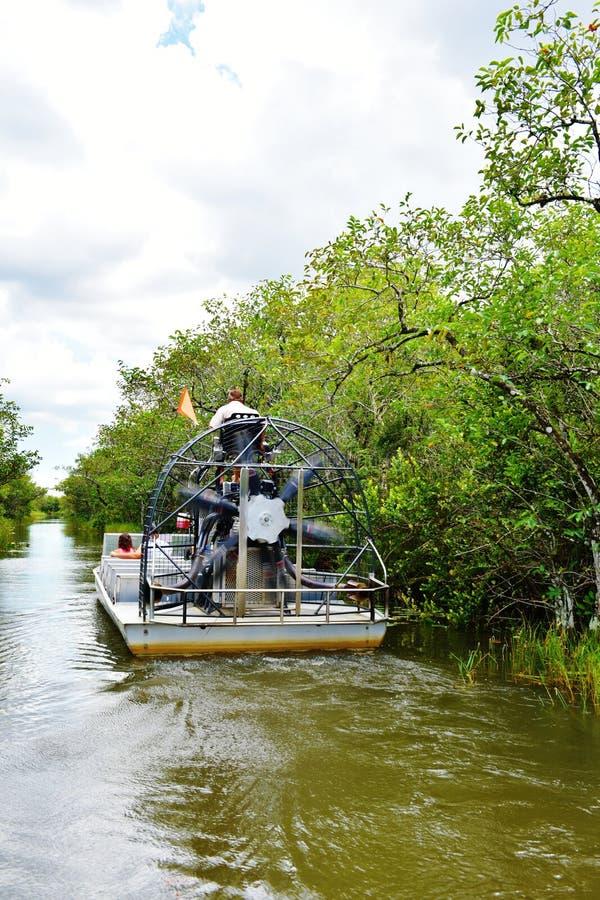 Viaggiatori della fauna selvatica di esplorazione del parco dell'alligatore di Florida S.U.A. immagine stock libera da diritti