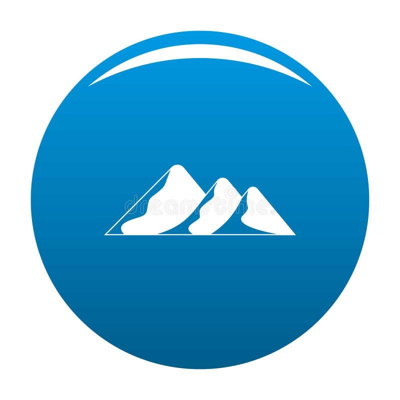 Viaggio al blu dell'icona della montagna illustrazione vettoriale