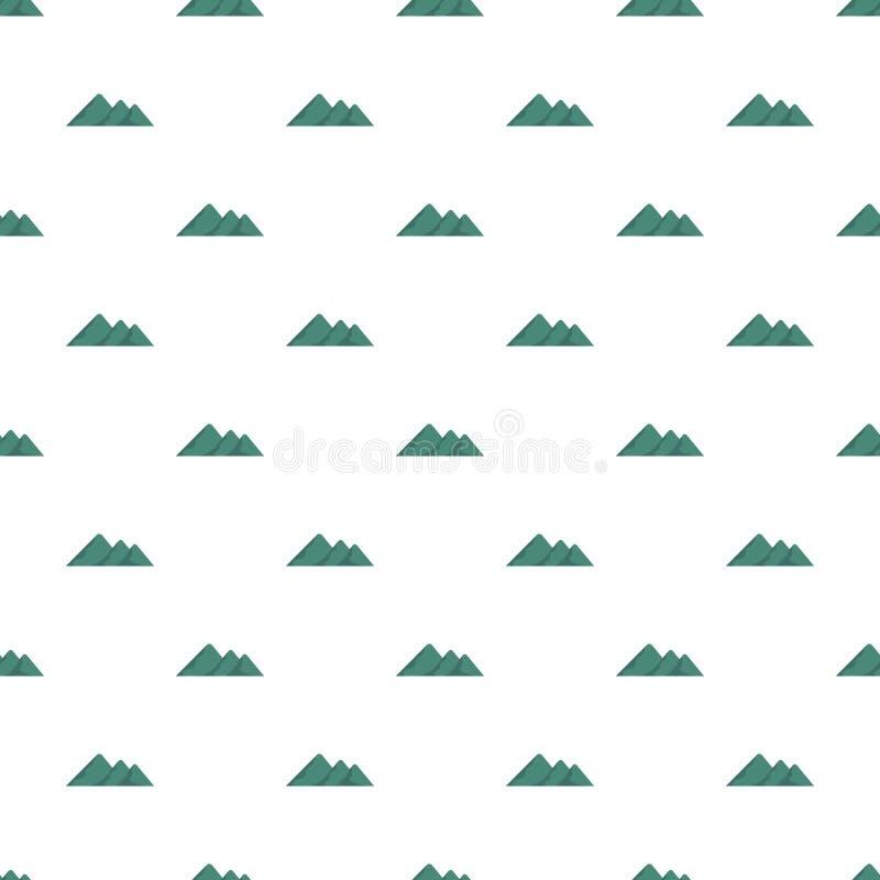 Viaggio al modello della montagna senza cuciture illustrazione vettoriale