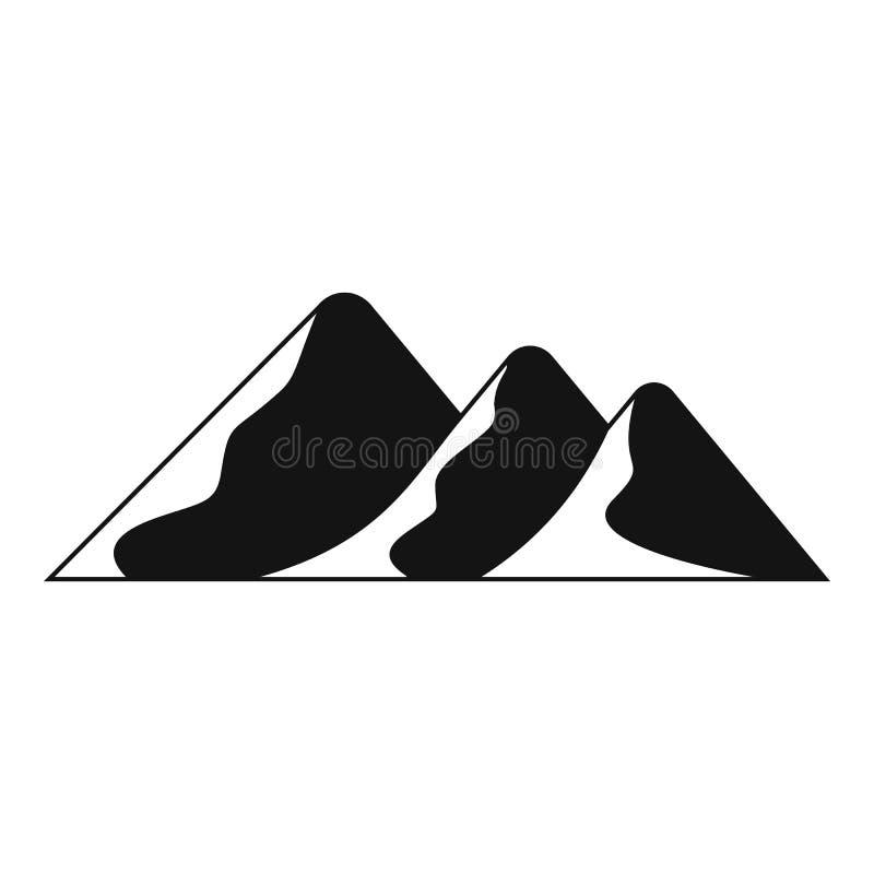 Viaggio all'icona della montagna, stile semplice illustrazione di stock