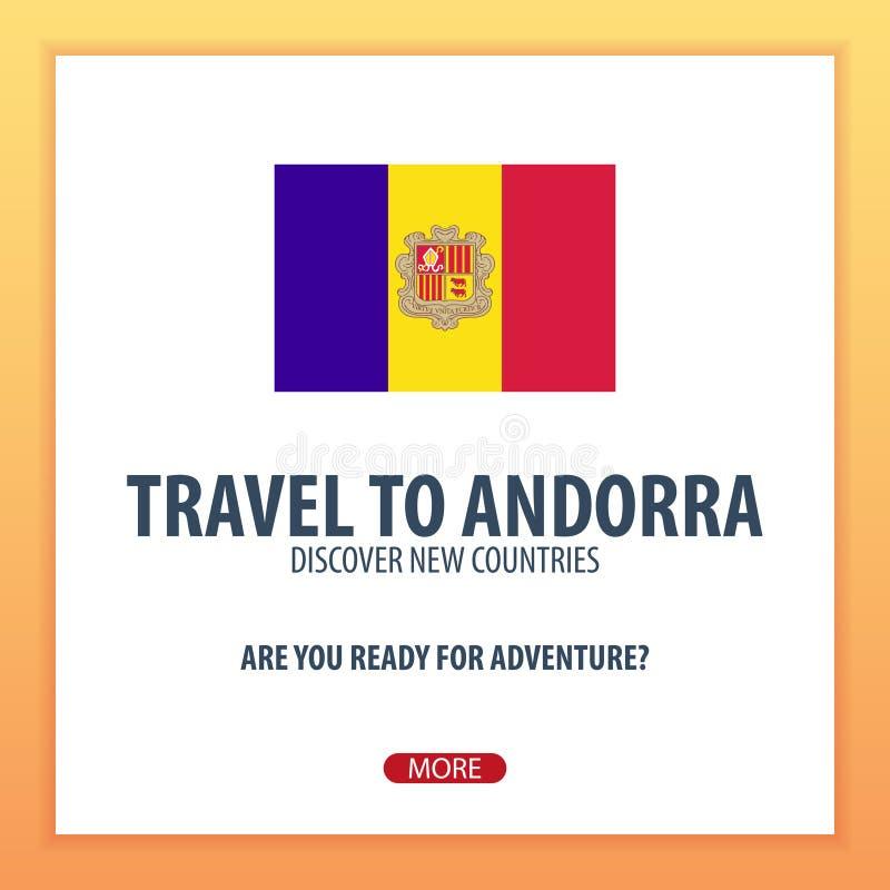 Viaggio in Andorra Scopra ed esplori i nuovi paesi Viaggio di avventura illustrazione di stock