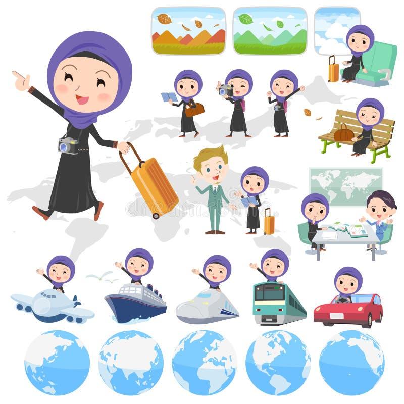 Viaggio arabo della donna royalty illustrazione gratis