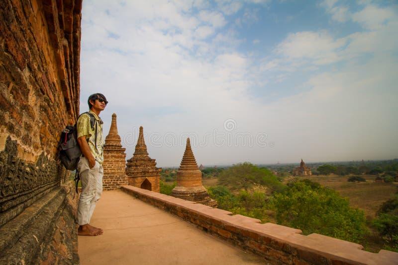 Viaggio a Bagan fotografia stock libera da diritti