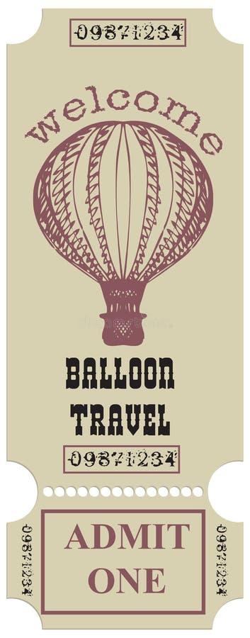 Viaggio Ballooning benvenuto royalty illustrazione gratis