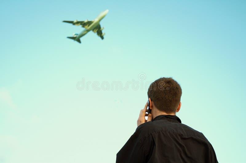 Viaggio d'affari e comunicazione fotografia stock
