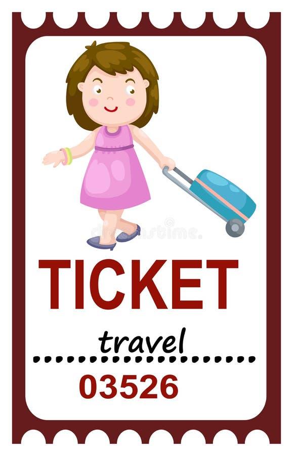 Viaggio del biglietto illustrazione vettoriale