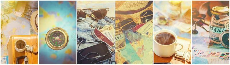 Viaggio del collage Buon immagine stock libera da diritti