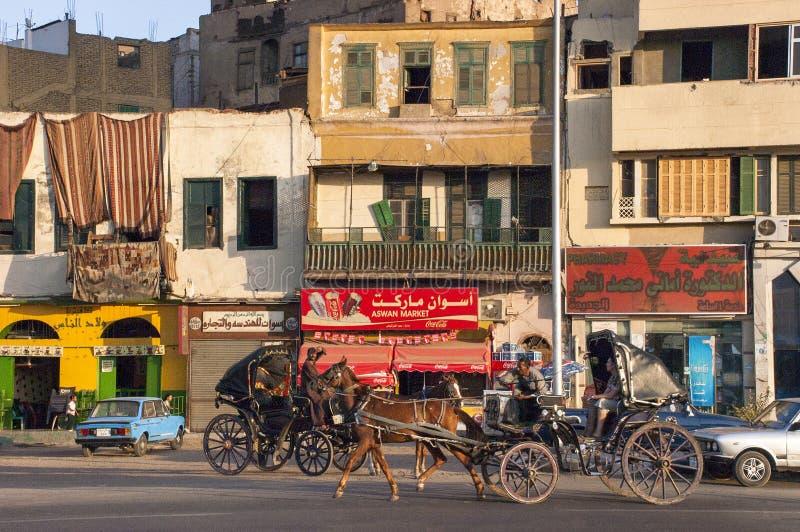 Viaggio dell'Egitto, città egiziana, la gente fotografie stock libere da diritti