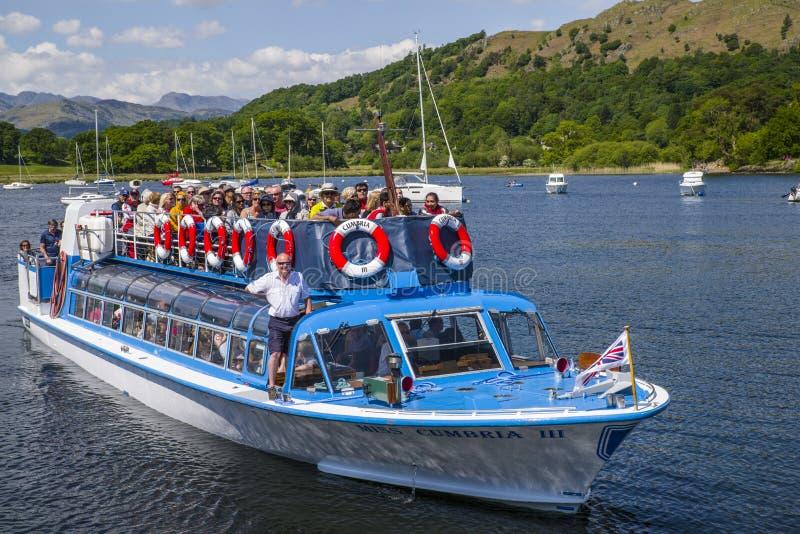 Viaggio della barca sul lago Windermere fotografia stock libera da diritti