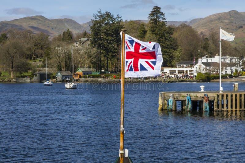 Viaggio della barca sul lago Windermere fotografia stock