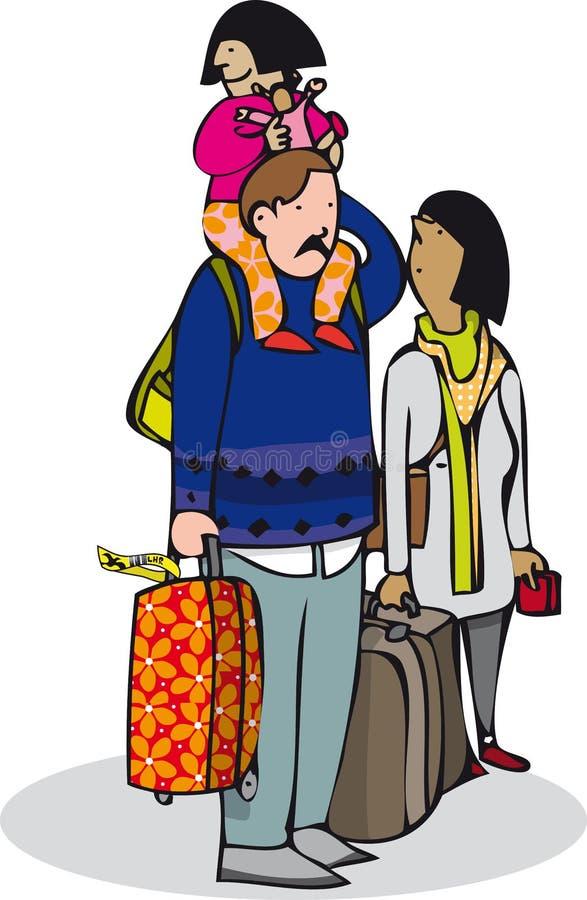 Viaggio della famiglia illustrazione di stock
