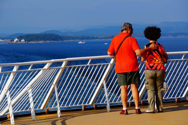 Viaggio della nave da crociera, Langesund, Norvegia fotografia stock