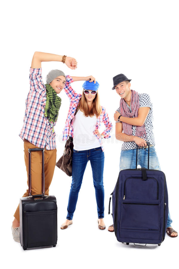 Viaggio delle valigie fotografia stock
