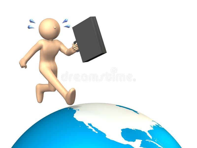 Viaggio di affari d'oltremare illustrazione vettoriale