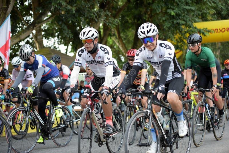 Viaggio di carità della corsa di bicicletta fotografia stock