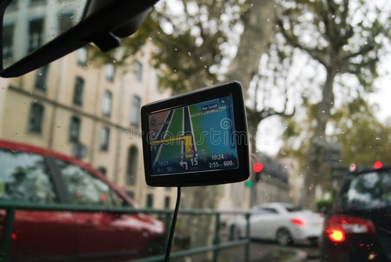 Viaggio di GPS fotografia stock