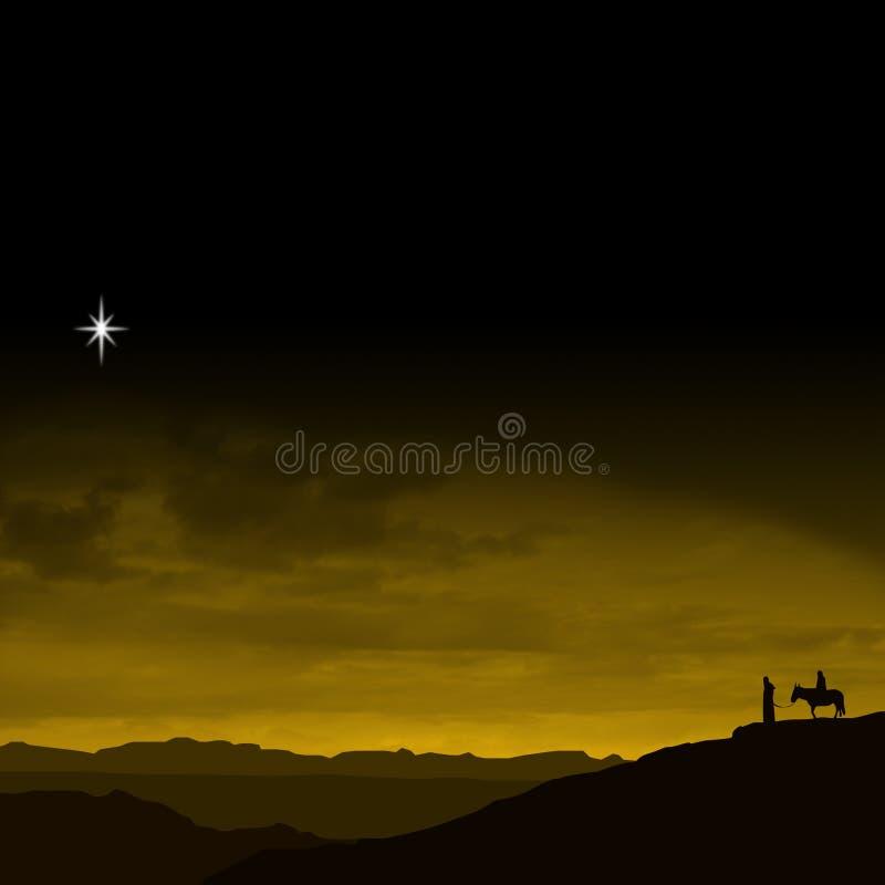 Viaggio di notte di Natale illustrazione di stock