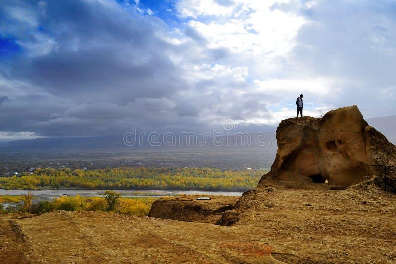 Viaggio di novembre di autunno di Georgia fotografia stock