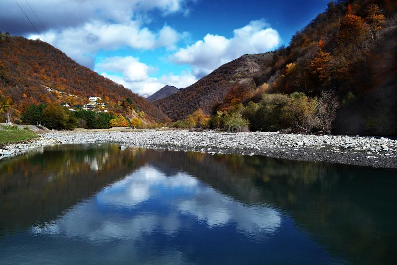 Viaggio di novembre di autunno di Georgia fotografia stock libera da diritti