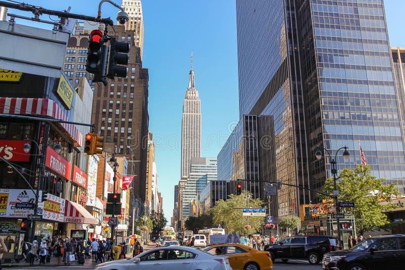 Viaggio di paesaggi bellissimi a Manhattan USA New York immagine stock libera da diritti