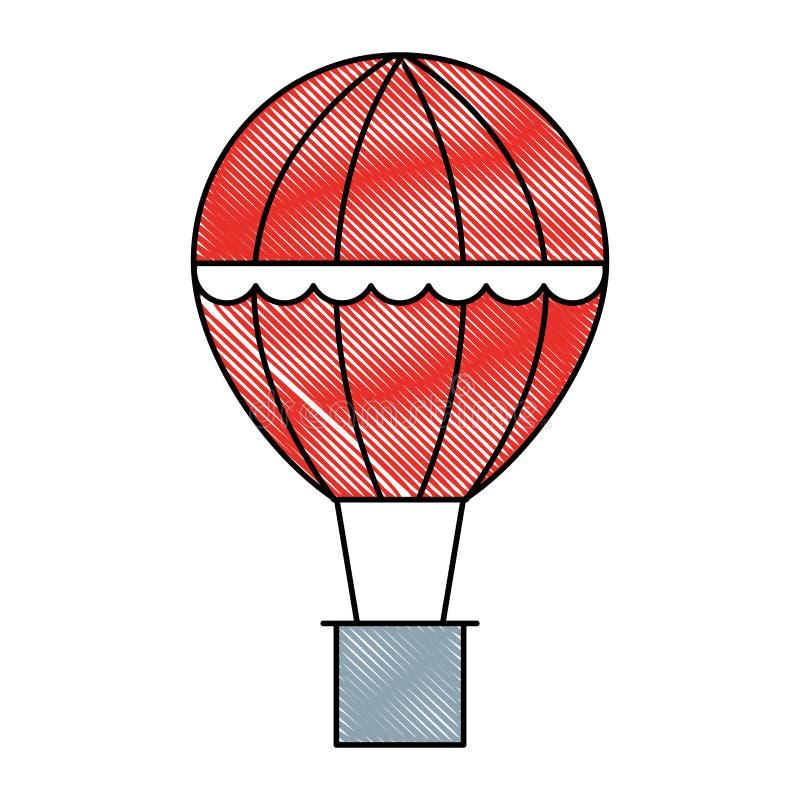 Viaggio di ricreazione di avventura del canestro della mongolfiera illustrazione vettoriale