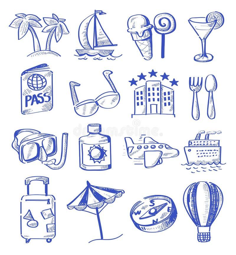 Viaggio di tiraggio della mano royalty illustrazione gratis