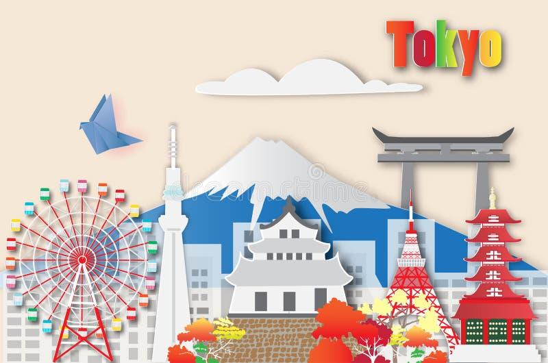 Viaggio di Tokyo, illustrazione di vettore royalty illustrazione gratis