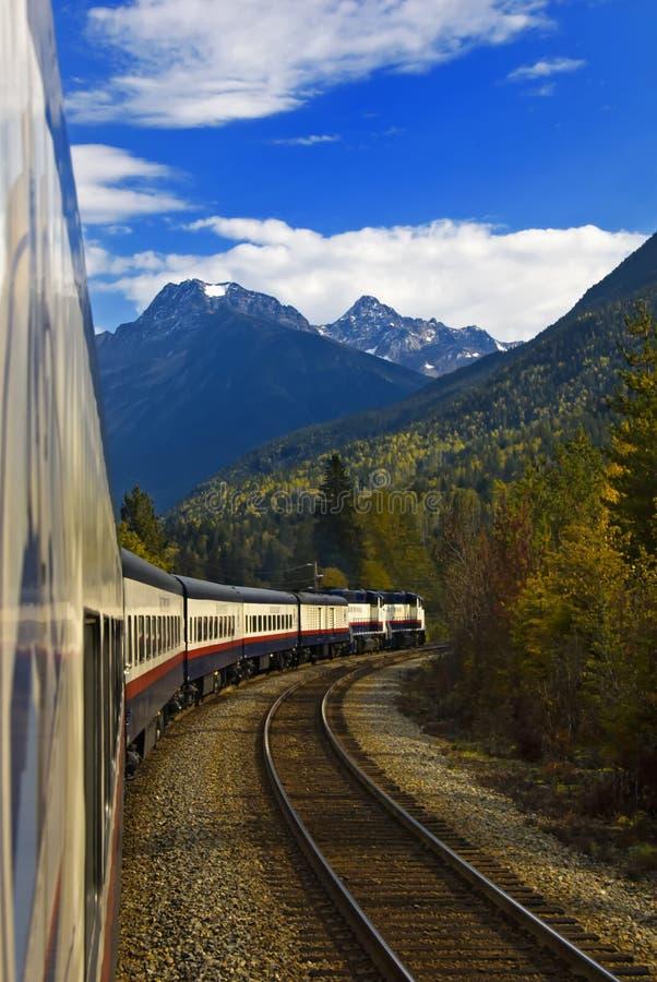 Viaggio di treno delle Montagne Rocciose fotografie stock